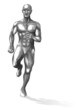 Illustration of a chromeman running