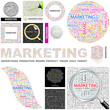 MARKETING. Concept illustration. GREAT COLLECTION.