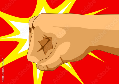 Vector illustration of a fist
