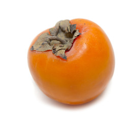 Red juicy persimmons isolated on white background