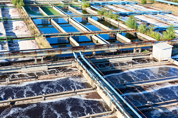 Water treatment, recycling, settling on sewage water plant