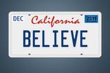 Nummernschild California Believe poster