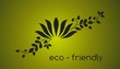 water lily plant , green Eco friendly logo design