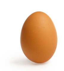 Brown egg with clipping path