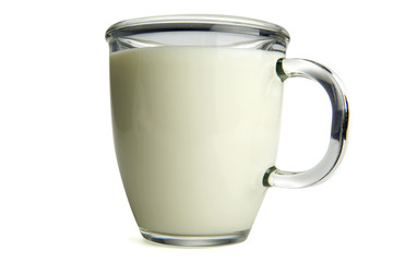 Milk with clipping path.