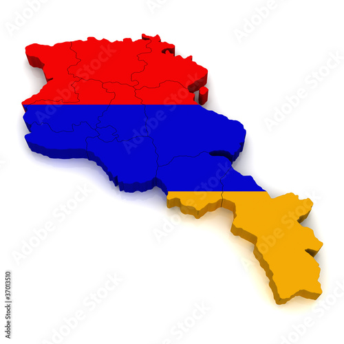 3D Map of Armenia