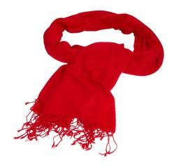 Roter Schal aus Cashmere
