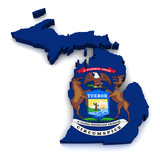 3D Map of Michigan