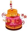 big strawberry birthday cake