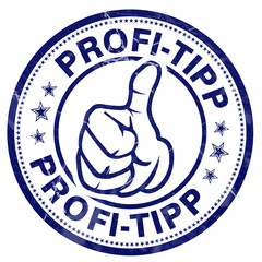 profi-tipp stempel button