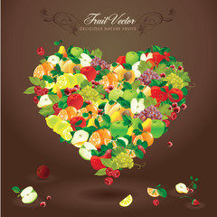 Delicious heart-shaped fruits