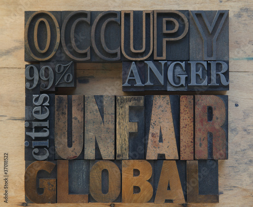 words related to the Occupy Wall Street movement