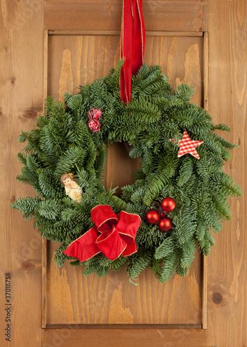 weihnachtlicher t rkranz stockfotos und lizenzfreie. Black Bedroom Furniture Sets. Home Design Ideas