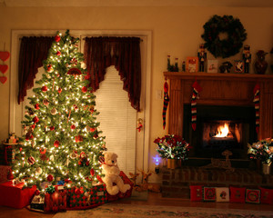 Christmas and Fire Place