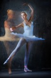 Beautiful ballet dancer in motion..