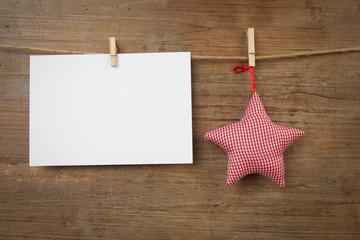 Stern mit Zettel