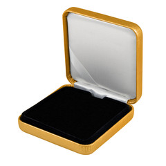 stylish hi quality opened gold leather case with black interior