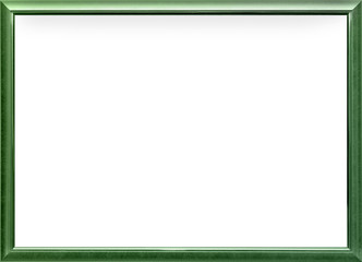 high quality strict modern style green silver metal photo frame