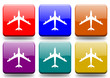 "Airplain ""6 buttons of different colors"""