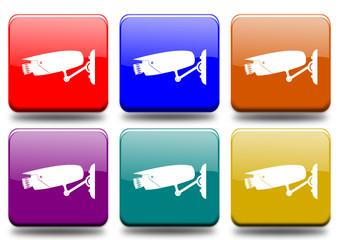 """Videosorveglianza """"6 buttons of different colors"""""""