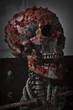 Skinned skull