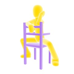 yellow person sitting C