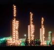 Grangemouth refinery at night