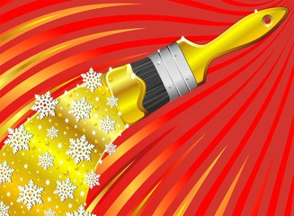 Natale Astratto con Pennello-Brush paint Abstract Christmas