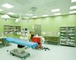 Operating room hospital nobody
