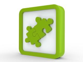 Icon grün Puzzle