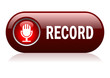 Record button, vector illustration