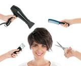 Fototapety Happy hairdresser