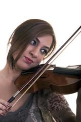 Beautiful Young Girl Play Violin