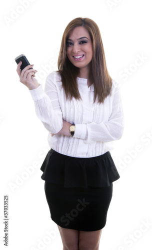Young Businesswomen with Mobile