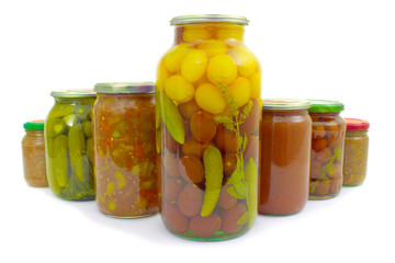 The various vegetables preserved with mint