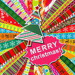 Scrapbook christmas patterns, vector