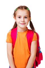 Girl in orange t-shirt