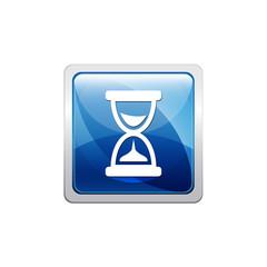 Botón glossy reloj de arena