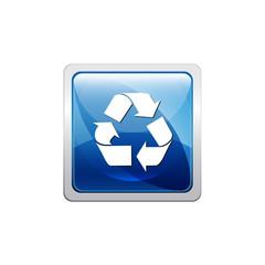 Botón glossy reciclar