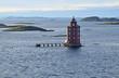 Leuchtturm Kjeungskjær, vor Trondheimsfjorden