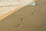 Fototapety Fußspuren am Strand