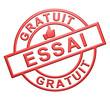 """""""Essai Gratuit"""" Cachet (rouge)"""