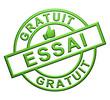 """Essai Gratuit"" Cachet (vert)"