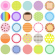 A Cute Collection of Vector Labels / Cards / Tags pastel colors