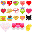 A vector collection of Valentine - colorful set of heart icons