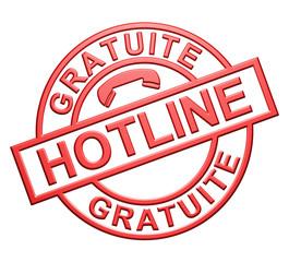 """Hotline Gratuite"" Cachet"