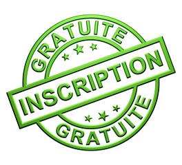 """""""Inscription Gratuite"""" Cachet (vert)"""