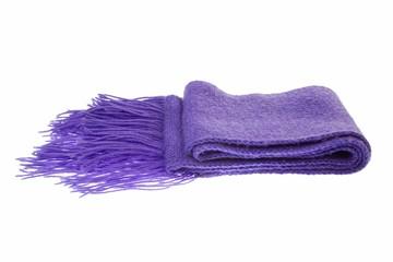Warmer Schal für den Winter in Violett