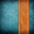 leather and jean background