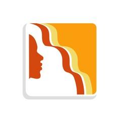 Summer hair icon